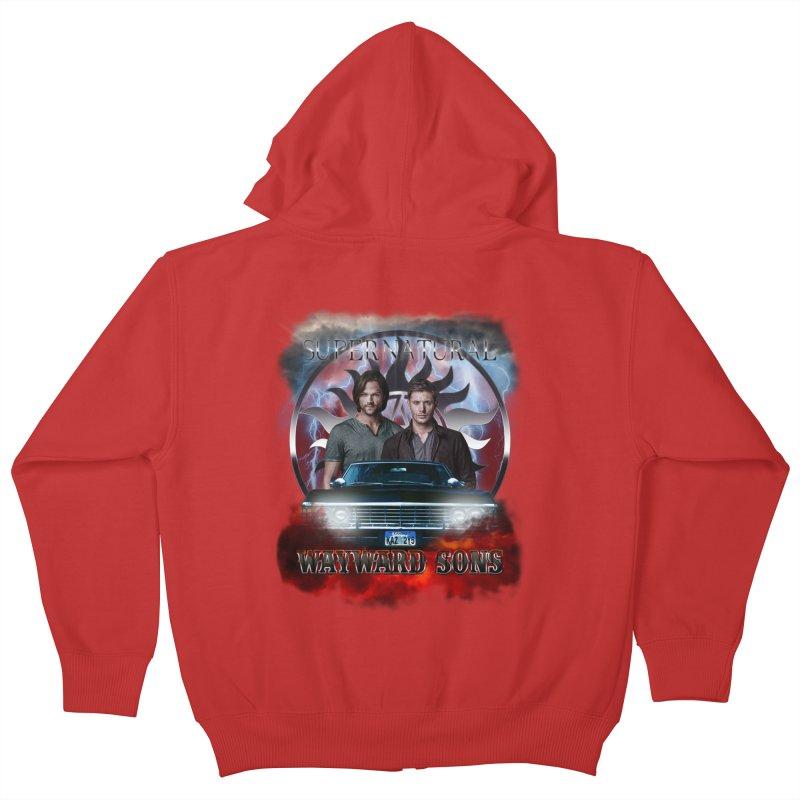 Supernatural WayWard Sons Theme 4 Kids Zip-Up Hoody by ratherkool's Artist Shop