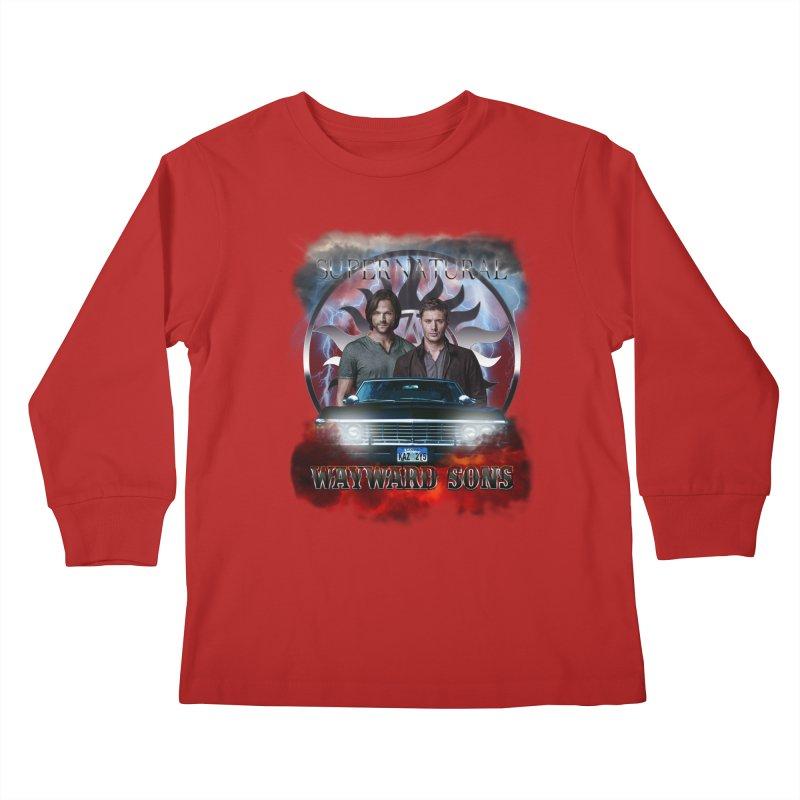 Supernatural WayWard Sons Theme 4 Kids Longsleeve T-Shirt by ratherkool's Artist Shop