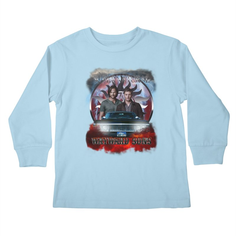 Supernatural WayWard Sons Theme 4 Kids Longsleeve T-Shirt by ratherkool's Artist Shop