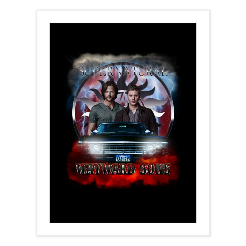 Supernatural WayWard Sons Theme 4 Home Fine Art Print by ratherkool's Artist Shop
