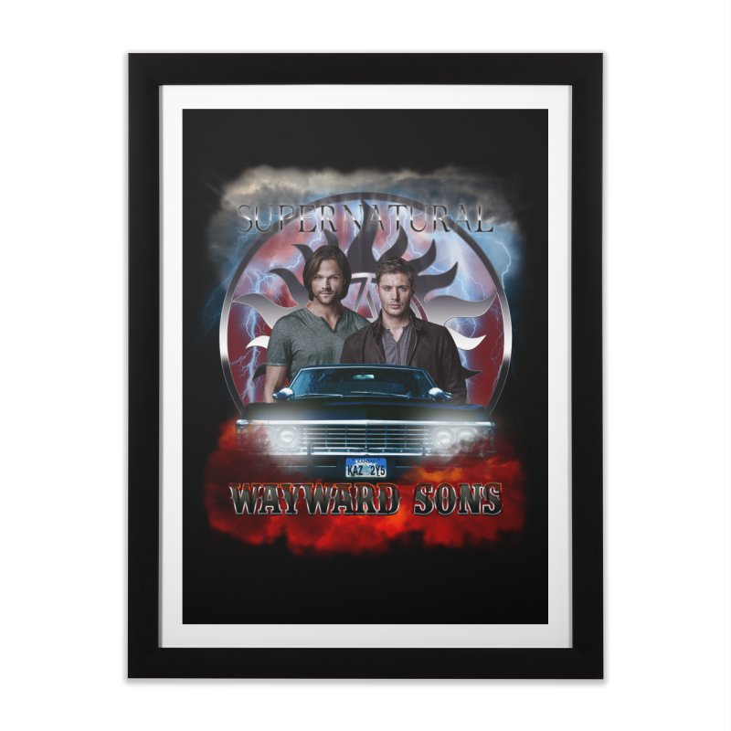 Supernatural WayWard Sons Theme 4 Home Framed Fine Art Print by ratherkool's Artist Shop