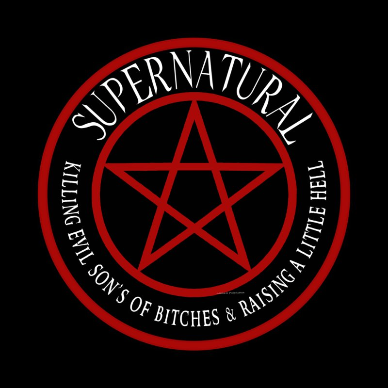 Supernatural  Killing evil son bitches raising a little hell  Ring Patch 03 by ratherkool's Artist Shop