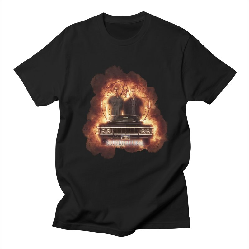 Supernatural Explosion 3 in Men's T-Shirt Black by ratherkool's Artist Shop