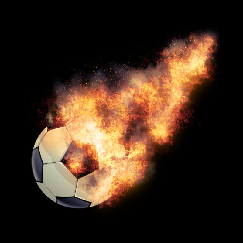 Flaming Soccerball   by ratherkool's Artist Shop