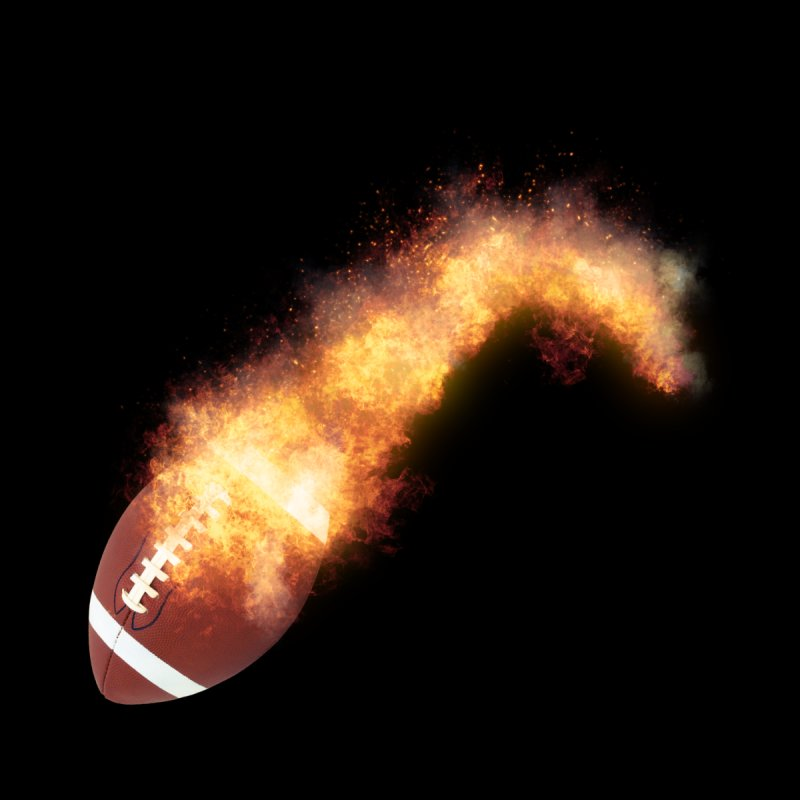Flaming Football Zoom by ratherkool's Artist Shop