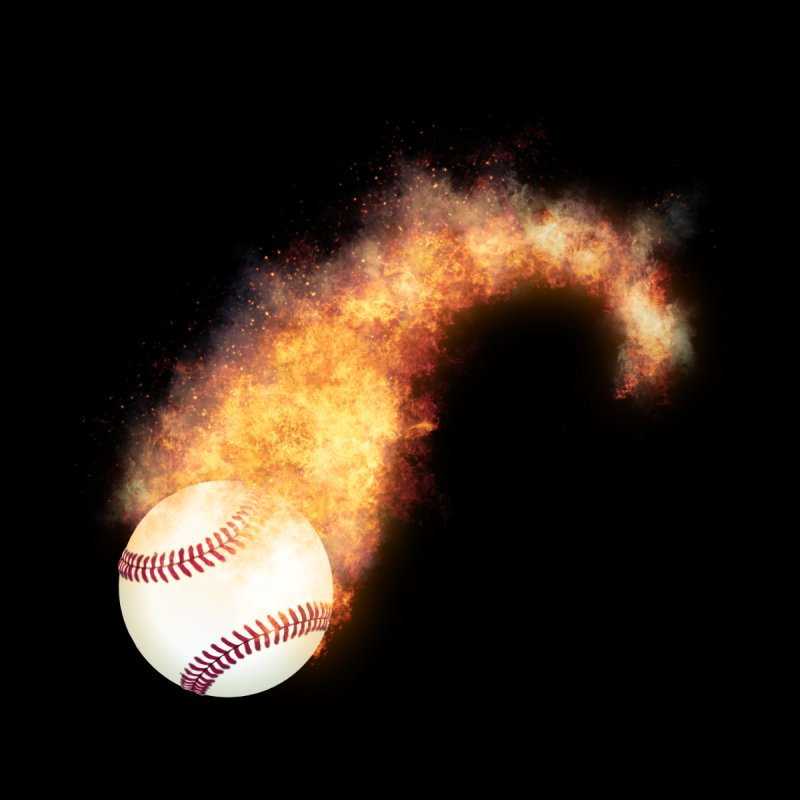 Flaming Baseball Zoom   by ratherkool's Artist Shop