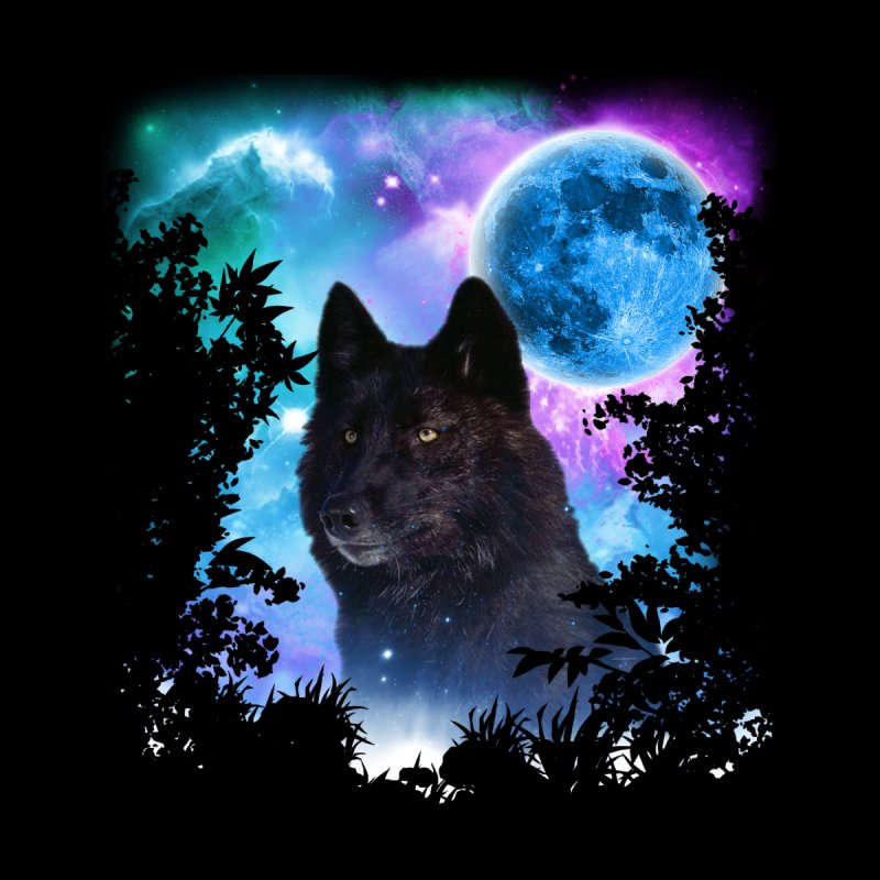 Black Wolf MidNight Forest None  by ratherkool's Artist Shop