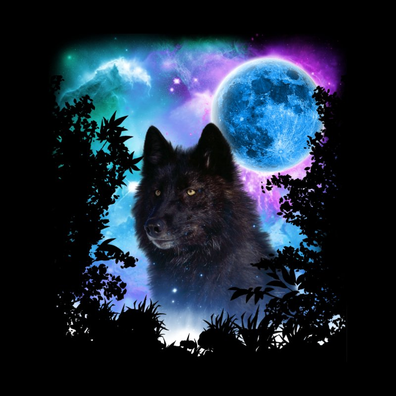 Black Wolf MidNight Forest edit None  by ratherkool's Artist Shop