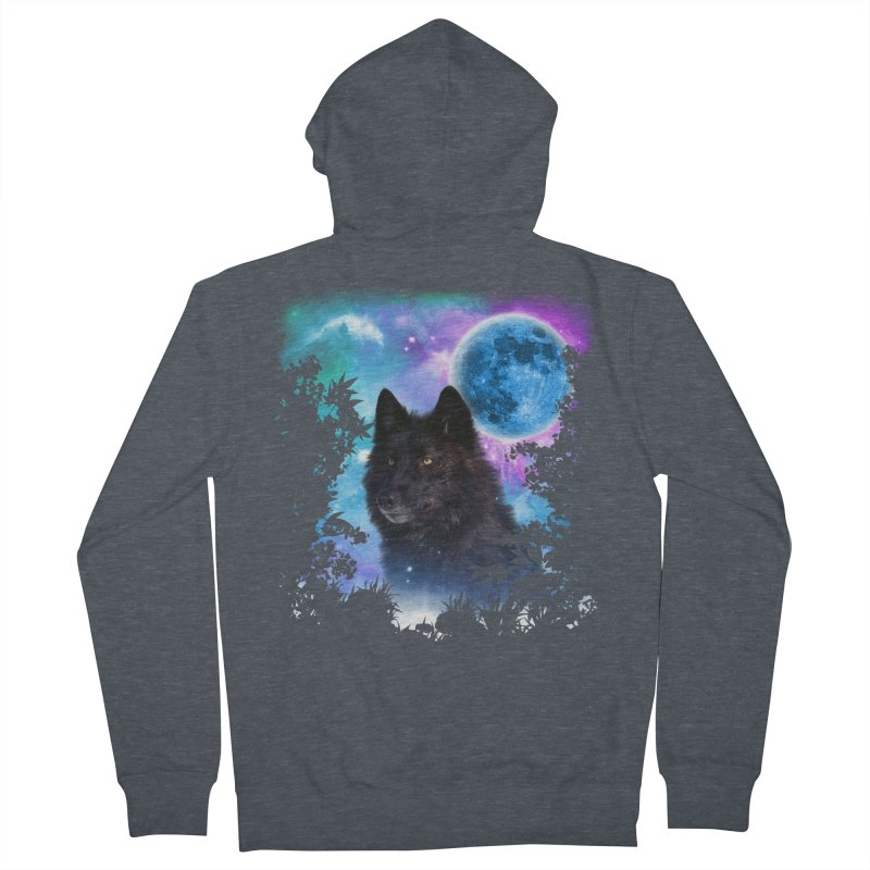 Black Wolf MidNight Forest edit   by ratherkool's Artist Shop
