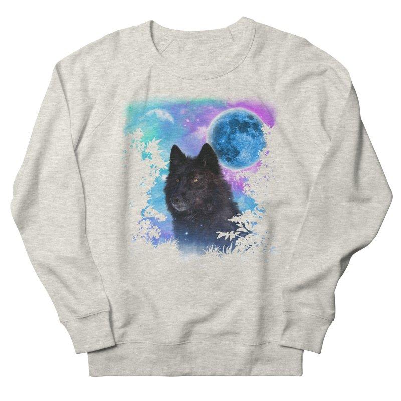 Black Wolf MidNight Forest edit Women's Sweatshirt by ratherkool's Artist Shop