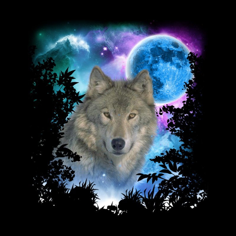 Grey Wolf MidNight Forest None  by ratherkool's Artist Shop