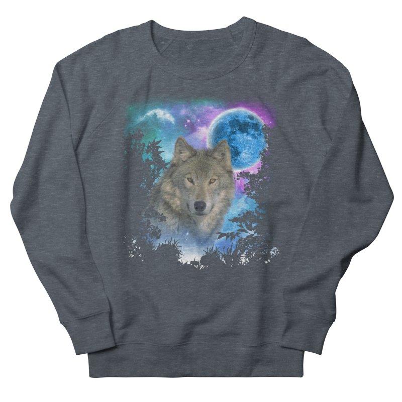 Grey Wolf MidNight Forest Women's Sweatshirt by ratherkool's Artist Shop