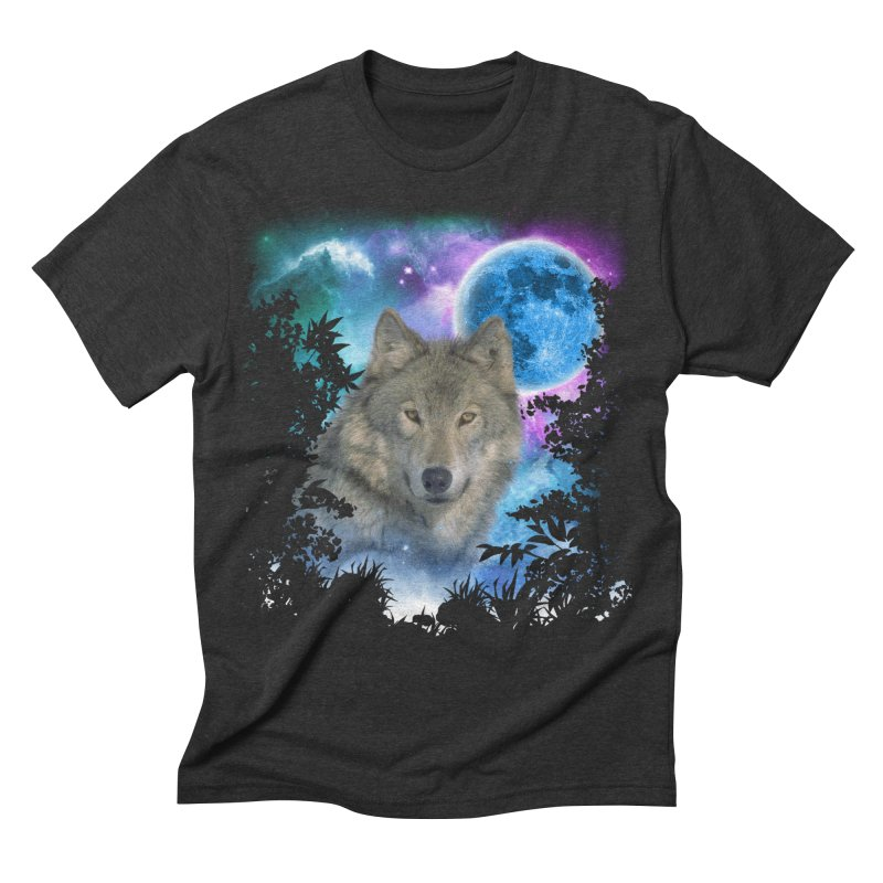 Grey Wolf MidNight Forest   by ratherkool's Artist Shop