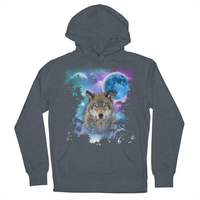 Timber Wolf MidNight Forest Women's Pullover Hoody by ratherkool's Artist Shop
