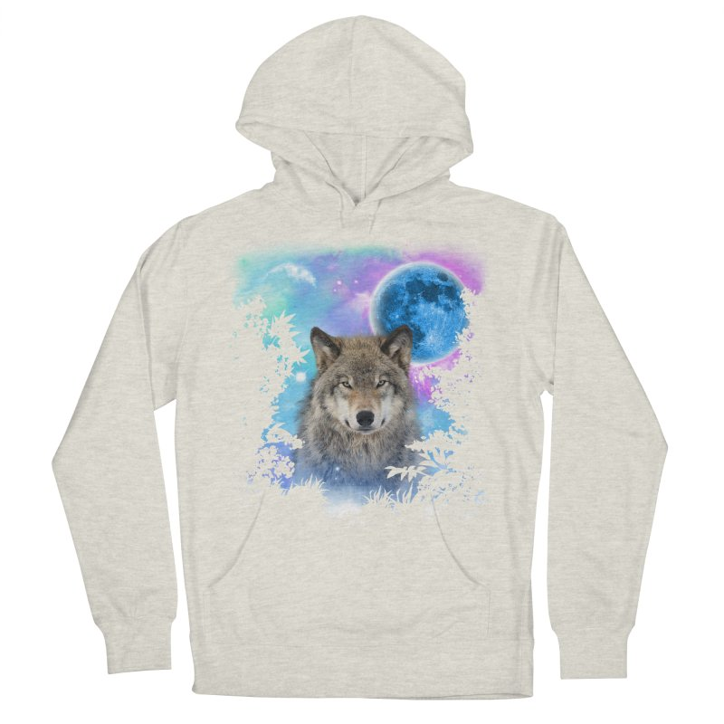 Timber Wolf MidNight Forest Men's Pullover Hoody by ratherkool's Artist Shop