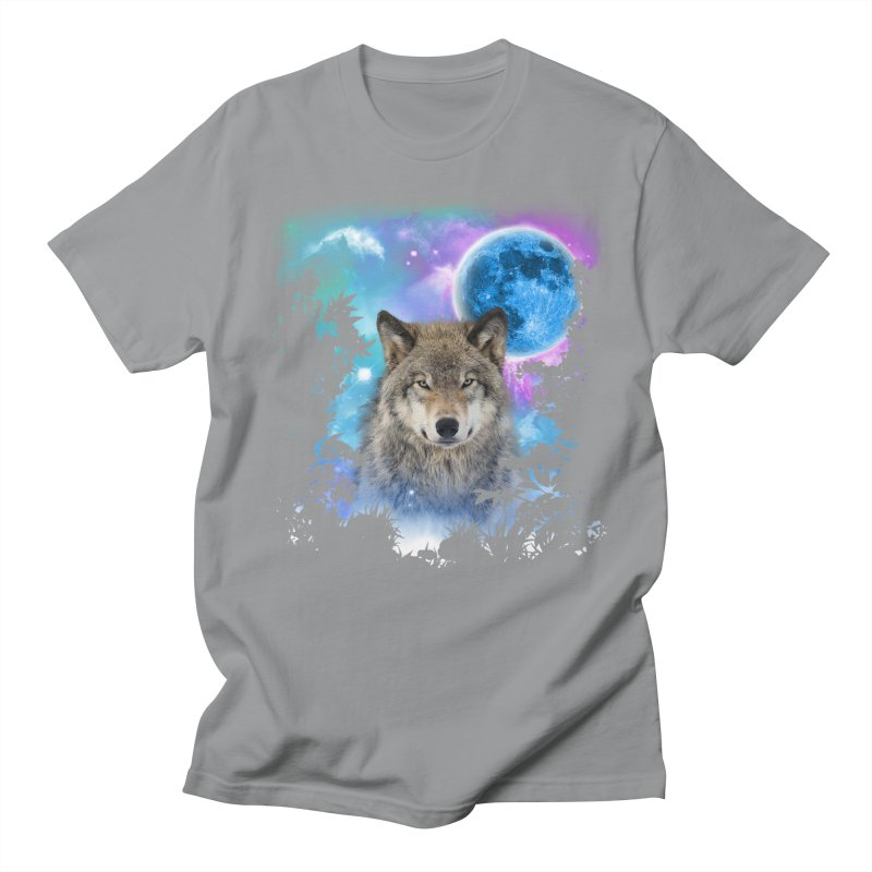Timber Wolf MidNight Forest Men's T-shirt by ratherkool's Artist Shop