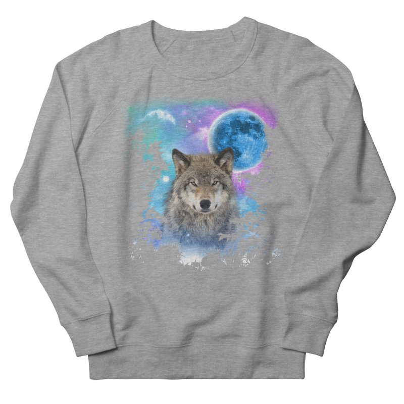 Timber Wolf MidNight Forest Women's Sweatshirt by ratherkool's Artist Shop