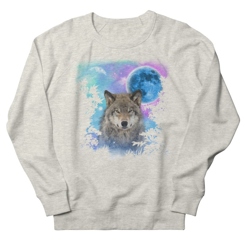 Timber Wolf MidNight Forest Women's Sweatshirt by ratherkool's Artist Shop