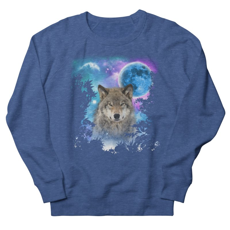 Timber Wolf MidNight Forest Men's Sweatshirt by ratherkool's Artist Shop
