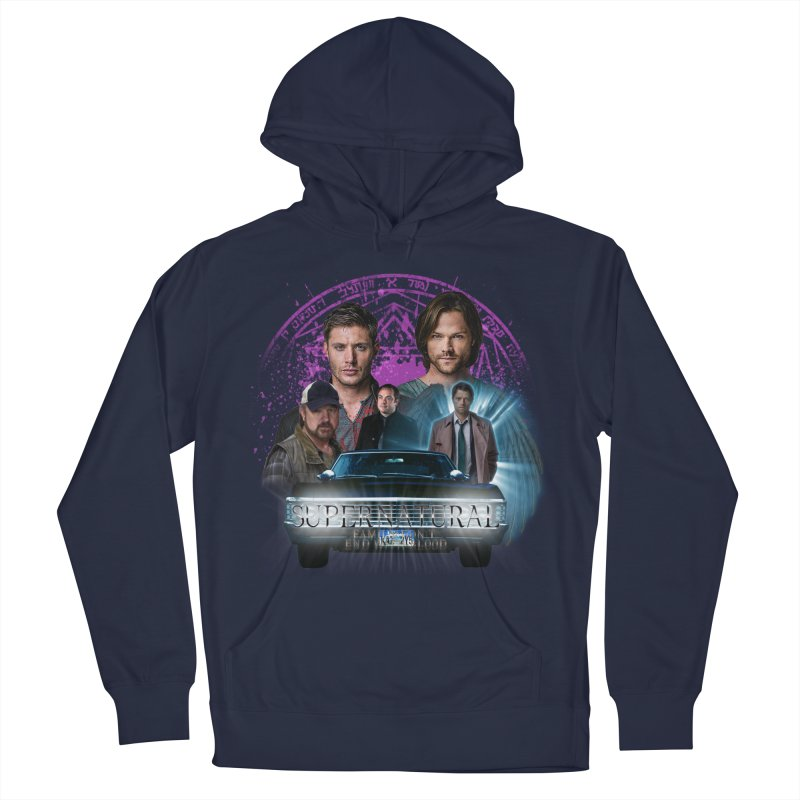 Supernatural Family dont end with Blood 2 Men's Pullover Hoody by ratherkool's Artist Shop