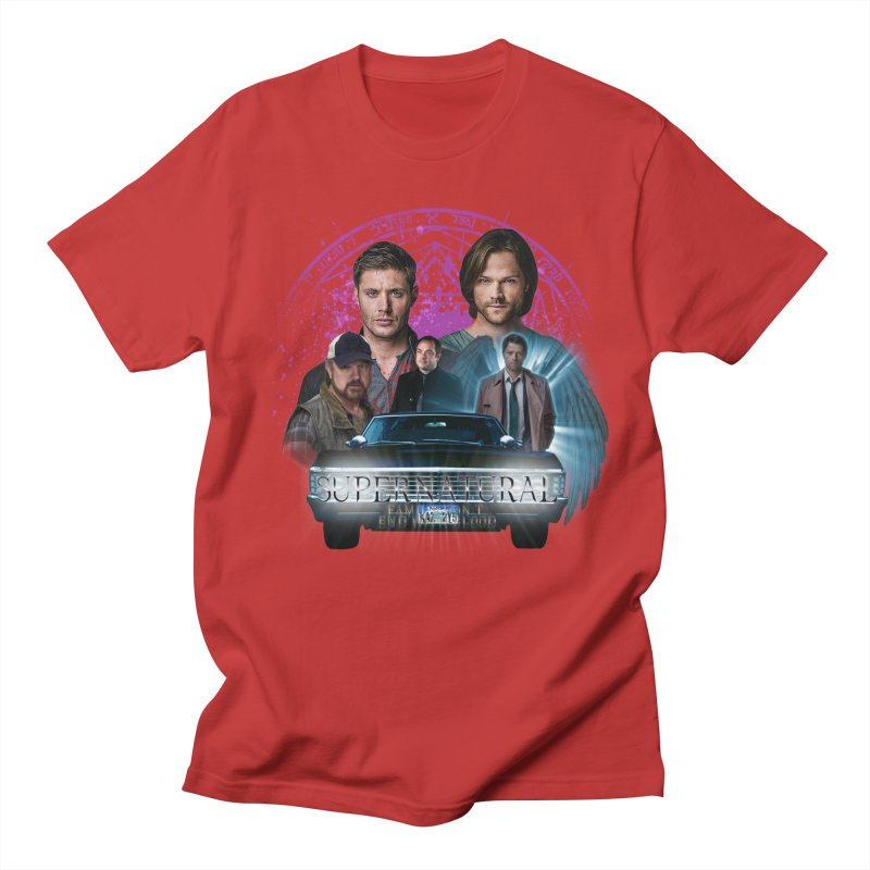 Supernatural Family dont end with Blood 2 Men's T-Shirt by ratherkool's Artist Shop