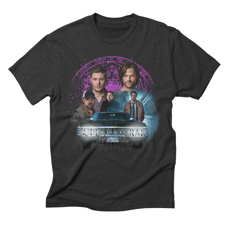Supernatural Family dont end with Blood 2 Men's Triblend T-Shirt by ratherkool's Artist Shop