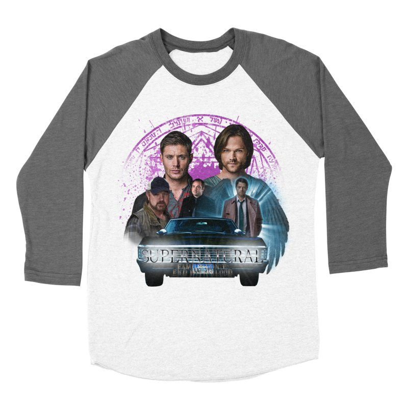 Supernatural Family dont end with Blood 2 Women's Baseball Triblend T-Shirt by ratherkool's Artist Shop