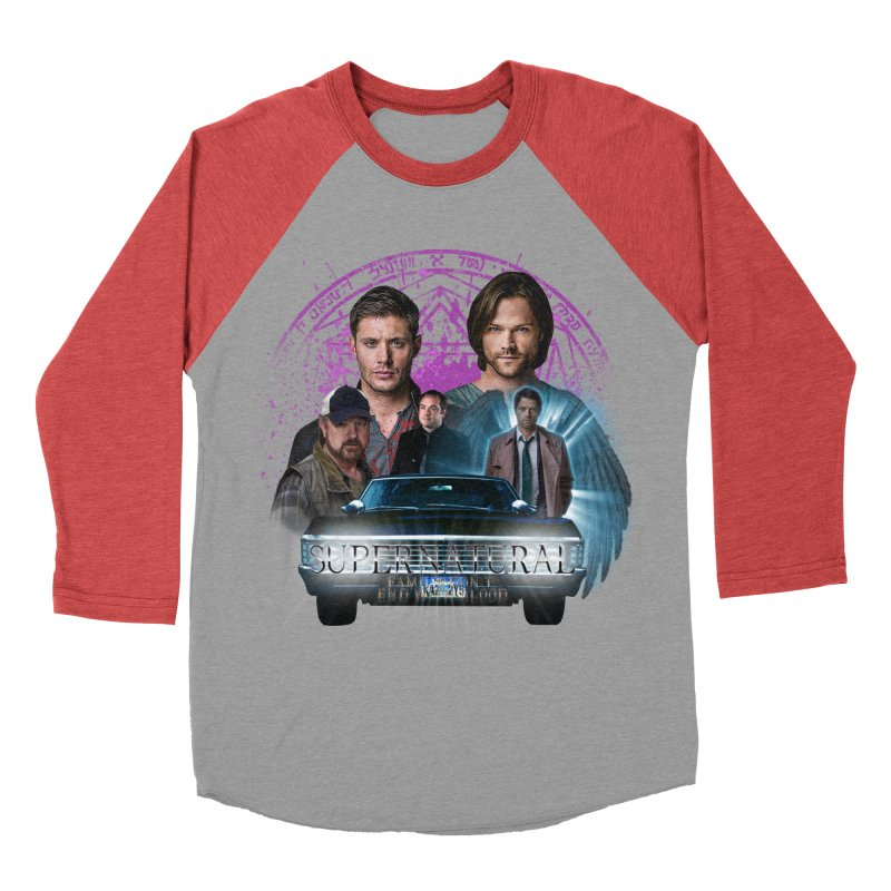 Supernatural Family dont end with Blood 2 Men's Baseball Triblend T-Shirt by ratherkool's Artist Shop