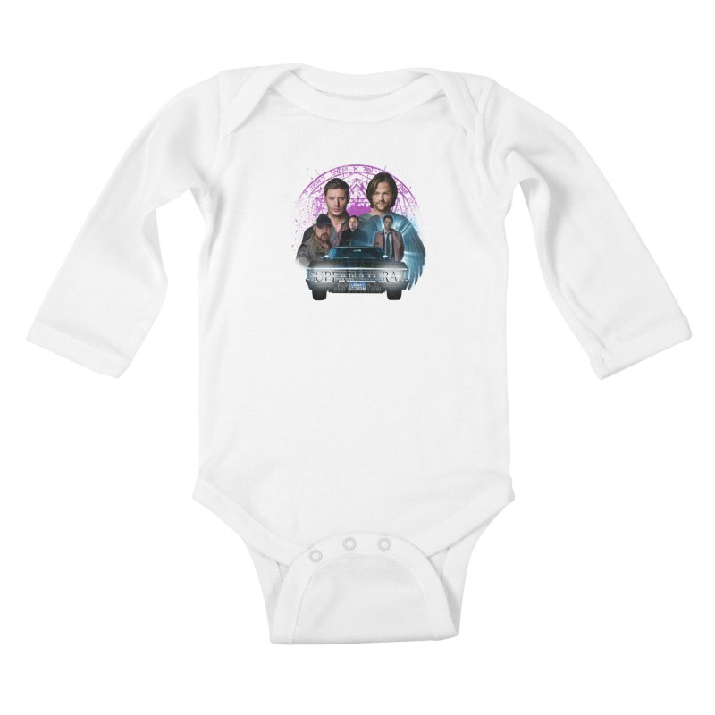 Supernatural Family dont end with Blood 2 Kids Baby Longsleeve Bodysuit by ratherkool's Artist Shop