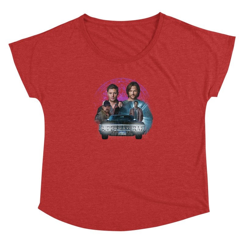 Supernatural Family dont end with Blood 2 Women's Dolman by ratherkool's Artist Shop
