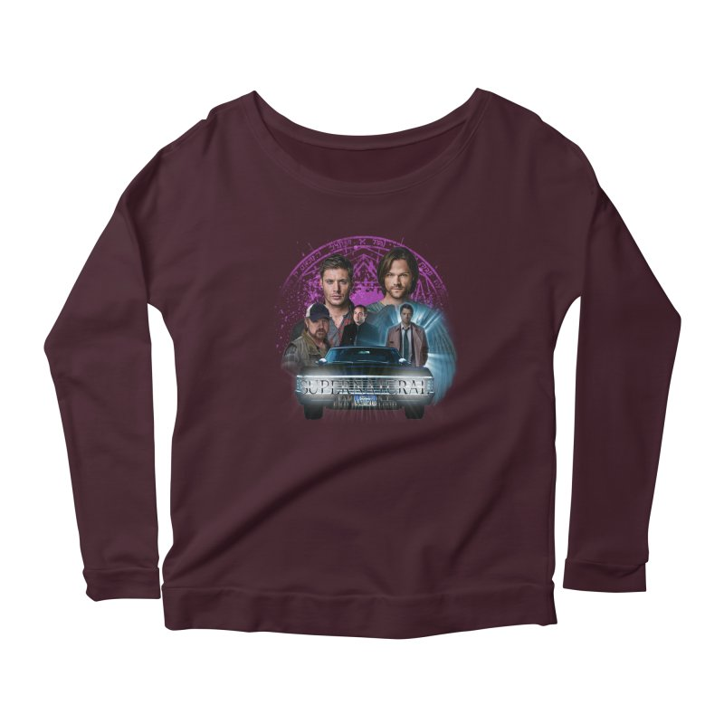 Supernatural Family dont end with Blood 2 Women's Longsleeve Scoopneck  by ratherkool's Artist Shop