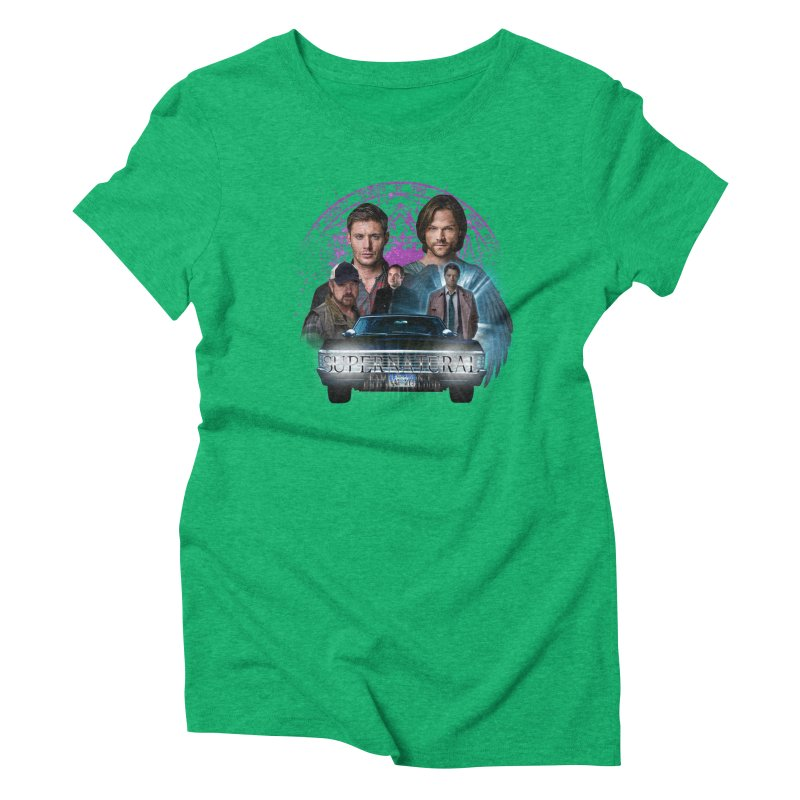 Supernatural Family dont end with Blood 2 Women's Triblend T-Shirt by ratherkool's Artist Shop