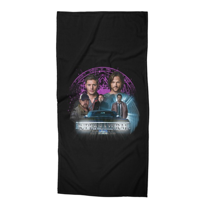 Supernatural Family dont end with Blood 2 Accessories Beach Towel by ratherkool's Artist Shop