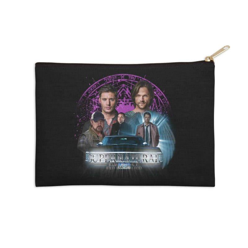 Supernatural Family dont end with Blood 2 Accessories Zip Pouch by ratherkool's Artist Shop
