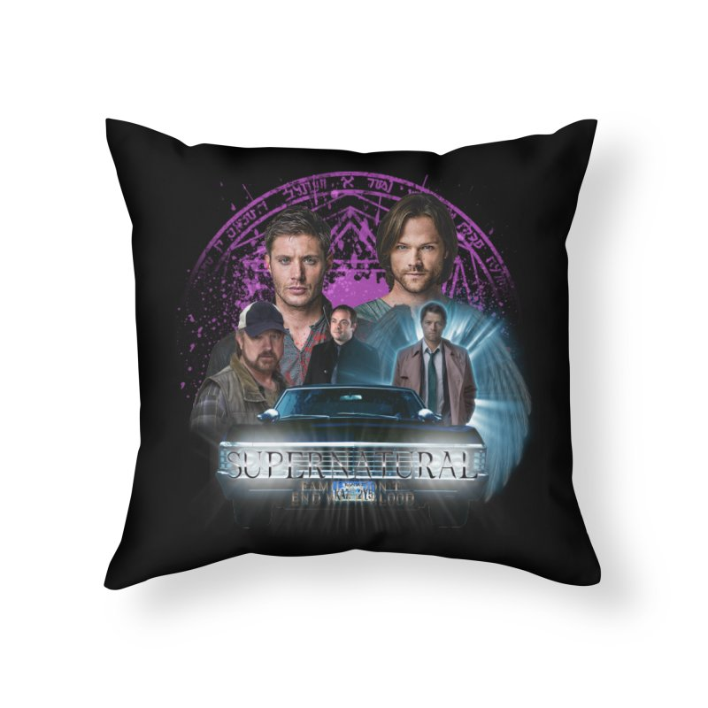 Supernatural Family dont end with Blood 2 Home Throw Pillow by ratherkool's Artist Shop