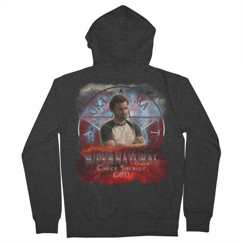 Supernatural Chuck Shurley GOD 2 Men's Zip-Up Hoody by ratherkool's Artist Shop