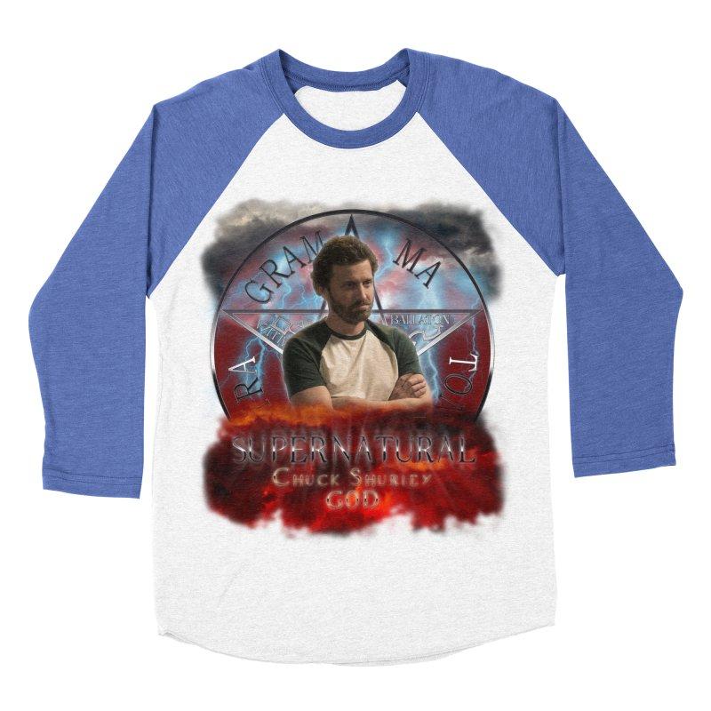 Supernatural Chuck Shurley GOD 2 Women's Baseball Triblend T-Shirt by ratherkool's Artist Shop