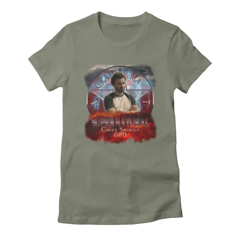 Supernatural Chuck Shurley GOD 2 Women's Fitted T-Shirt by ratherkool's Artist Shop