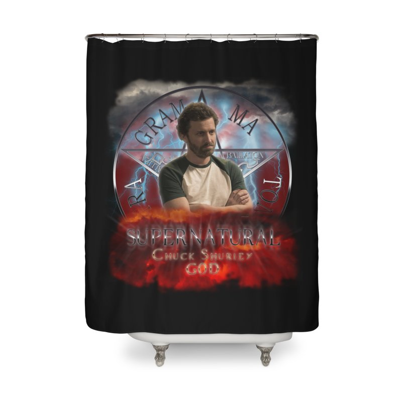 Supernatural Chuck Shurley GOD 2 Home Shower Curtain by ratherkool's Artist Shop