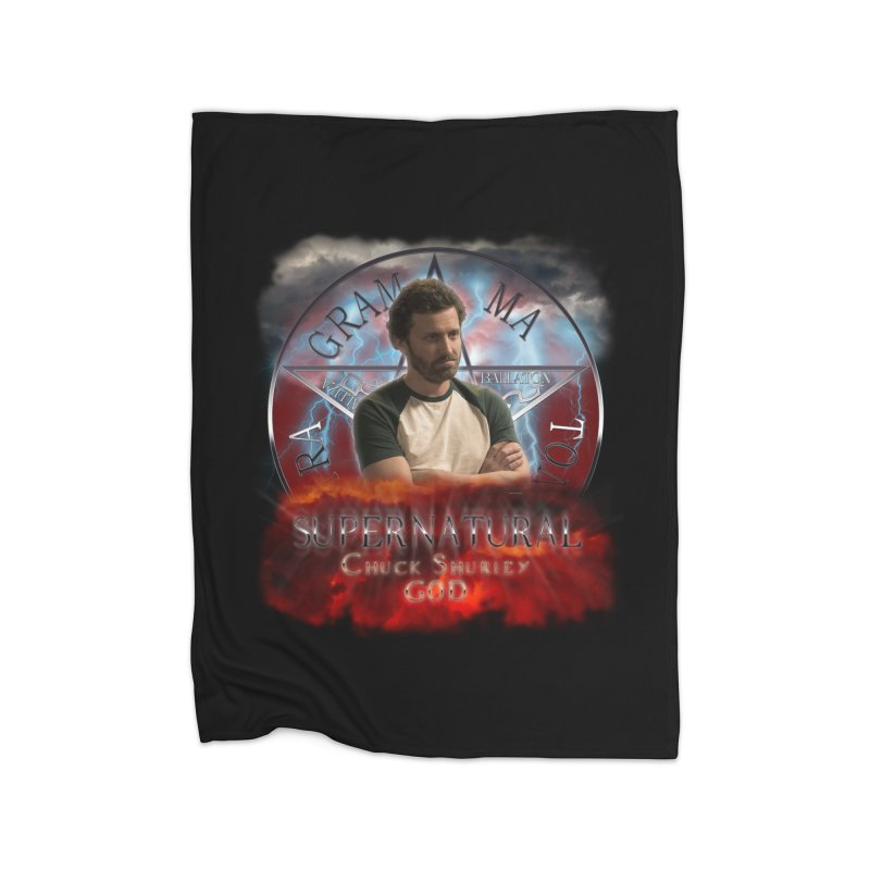 Supernatural Chuck Shurley GOD 2 Home Blanket by ratherkool's Artist Shop