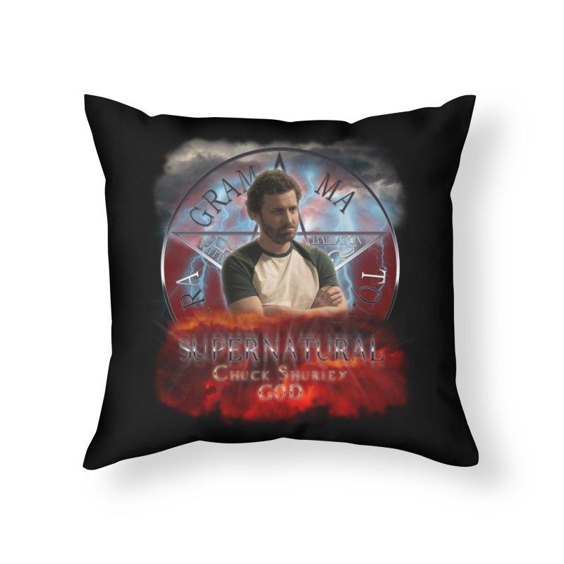 Supernatural Chuck Shurley GOD 2 Home Throw Pillow by ratherkool's Artist Shop