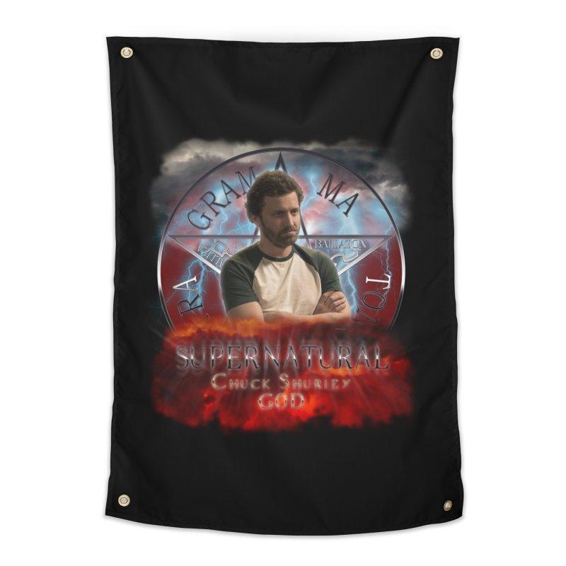 Supernatural Chuck Shurley GOD 2 Home Tapestry by ratherkool's Artist Shop
