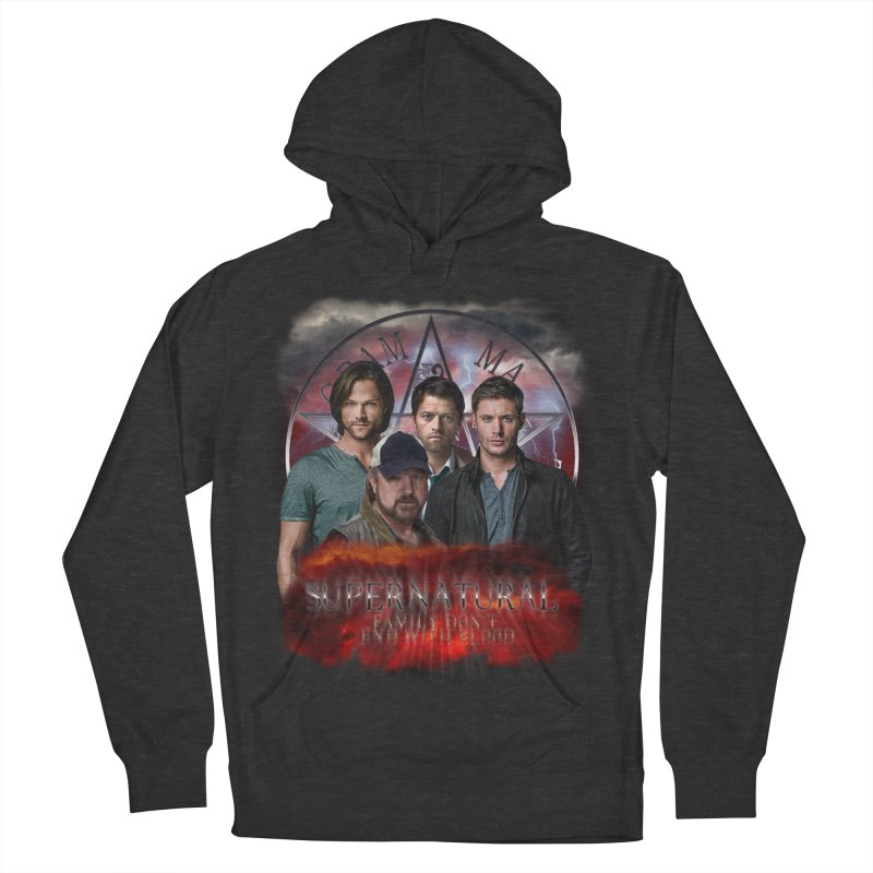 Supernatural Family dont end with blood 4C9 Women's Pullover Hoody by ratherkool's Artist Shop