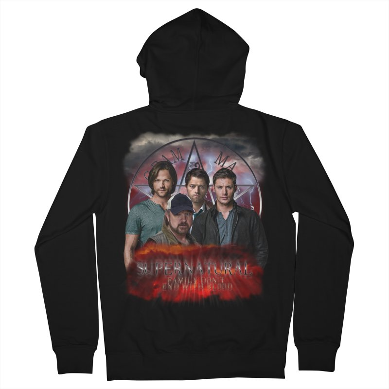 Supernatural Family dont end with blood 4C9 Women's Zip-Up Hoody by ratherkool's Artist Shop