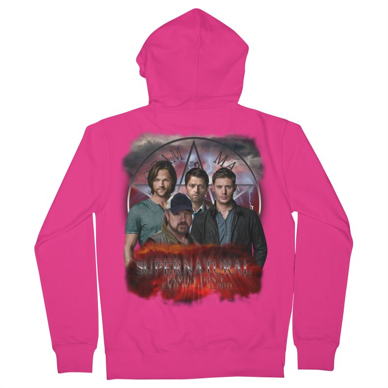 Supernatural Family dont end with blood 4C9 Men's Zip-Up Hoody by ratherkool's Artist Shop