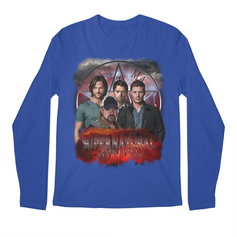 Supernatural Family dont end with blood 4C9 Men's Longsleeve T-Shirt by ratherkool's Artist Shop