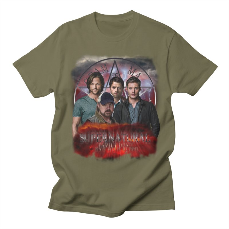 Supernatural Family dont end with blood 4C9 Men's T-Shirt by ratherkool's Artist Shop