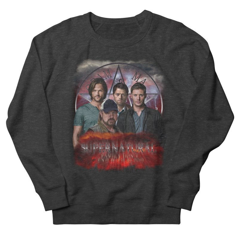 Supernatural Family dont end with blood 4C9 Men's Sweatshirt by ratherkool's Artist Shop