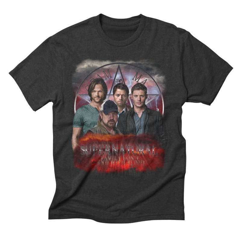 Supernatural Family dont end with blood 4C9 Men's Triblend T-Shirt by ratherkool's Artist Shop