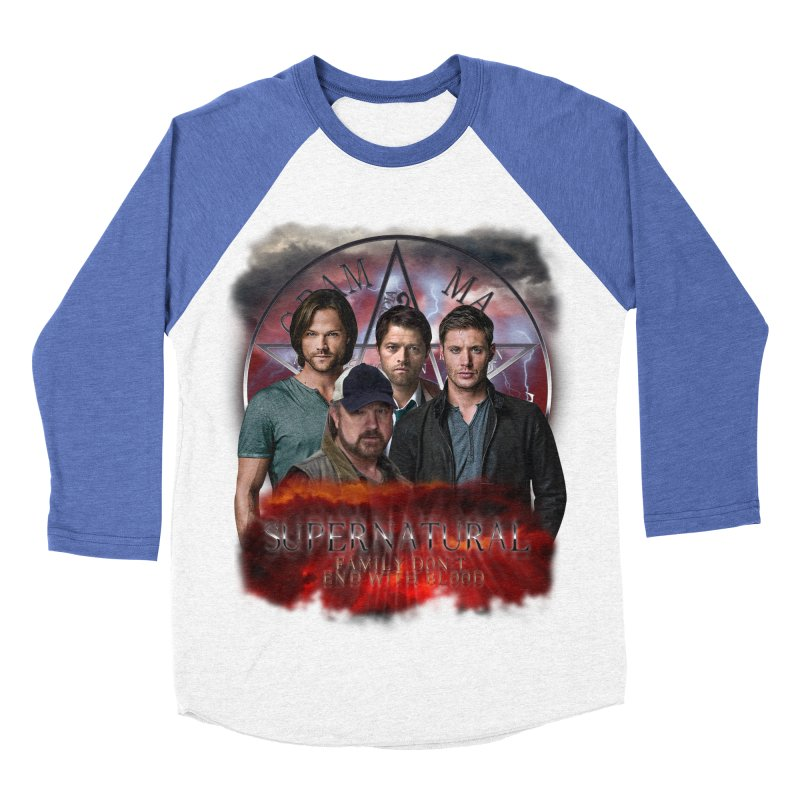Supernatural Family dont end with blood 4C9 Women's Baseball Triblend T-Shirt by ratherkool's Artist Shop